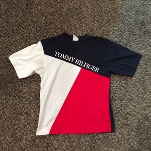 Super Rare Colorblock Tommy Shirt